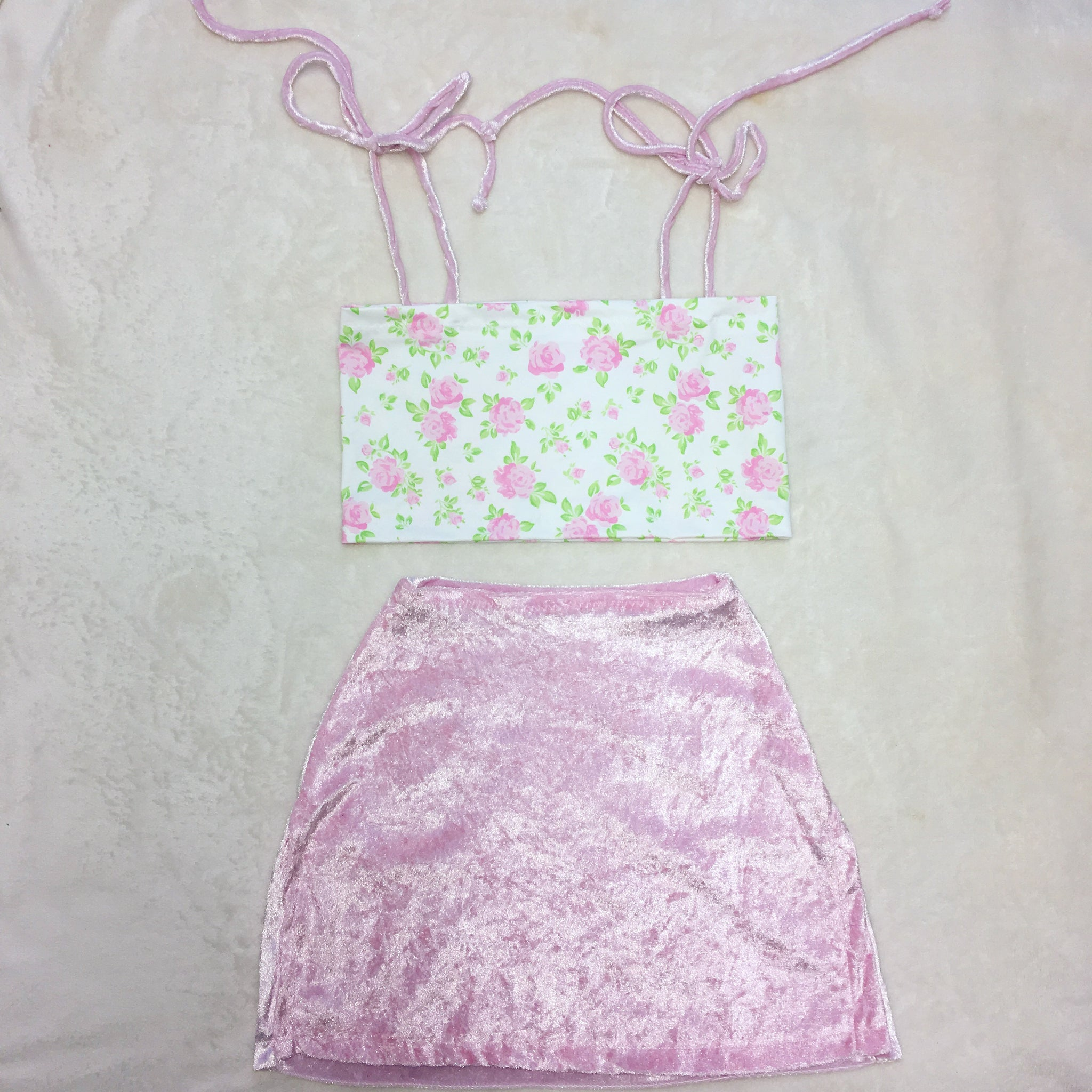 English Rose Set In Baby Pink Size uk 4 (xxs)