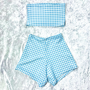 Blue Gingham Set
