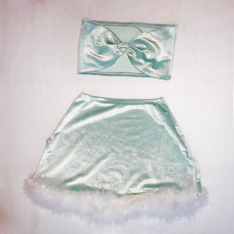 Angel Delight Set Minty Green (One off) size 6/8 (XS-S)