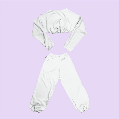 Quarantined Cutie Cozy Set White