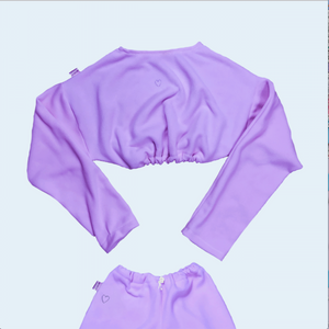Lilac Fleece Cozy Sweater