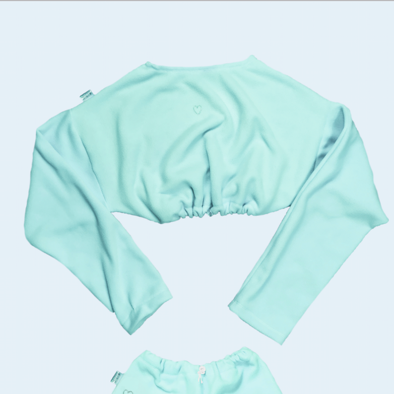 Mint Fleece Cozy Sweater