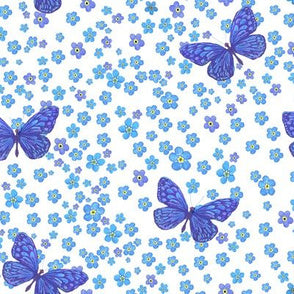 Forget me Not Butterfly Set