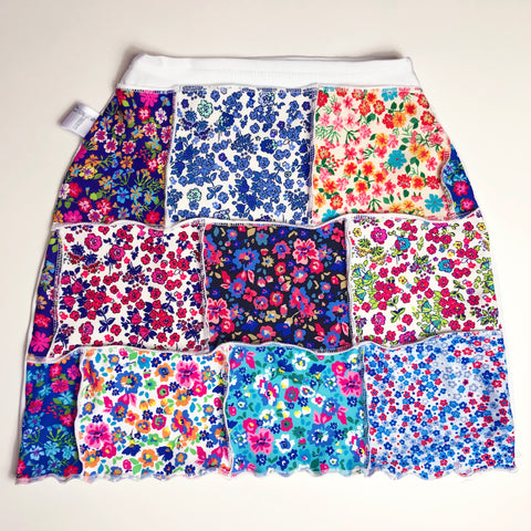 One Off Floral Patchwork Skirt