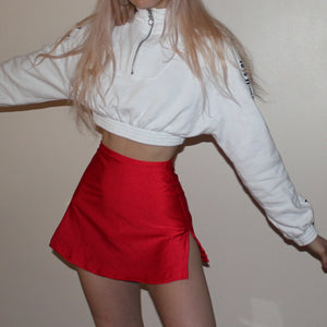 Lil red basic slit skirt