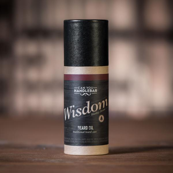Wisdom Beard Oil - Bright and Woodsy - Can You Handlebar