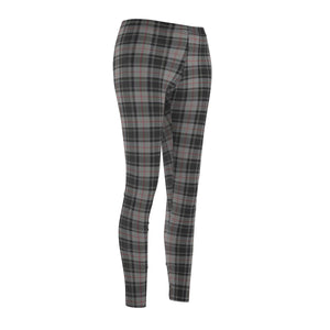 Women's Leggings Light Grey Plaid
