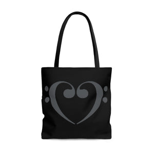 Tote Bag Filthy Bass Clef Heart