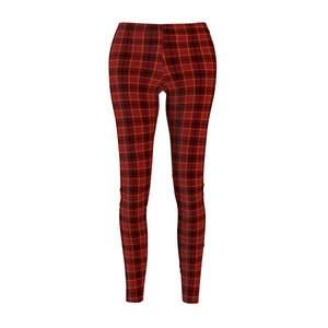 Women's Leggings Red Plaid