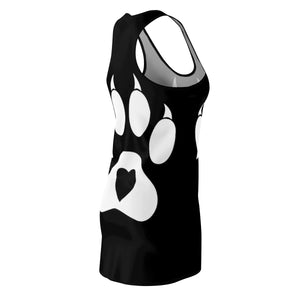 Women's Racerback Dress Paw White