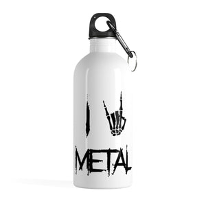 Stainless Steel Water Bottle I Love Metal