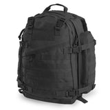 Large 3 Day Backpack | Black Backpack | Black Go Bag | MOLLE Webbing | Large Velcro Patch