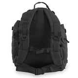 Large 3 Day Backpack | Black Backpack | Black Go Bag | Mesh Back Padding | Sternum Strap
