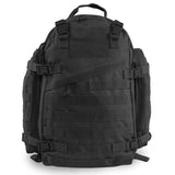 Large 3 Day Backpack | Black Backpack | Black Go Bag | MOLLE Webbing
