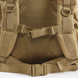 Tactical 3 Day Backpack | Desert Backpack | Desert Coyote Go Bag | Mesh Back Padding | Waist Strap | Sternum Strap
