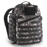 Large 3 Day Backpack | Black Digi Camo | Black Camo | MOLLE Webbing | Large Pockets | Water Bottle Pockets | Patches Patch Holder