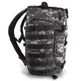 Large 3 Day Backpack | Black Digi Camo | Black Camo | MOLLE Webbing | Compression Straps |