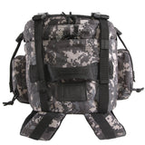 Large 3 Day Backpack | Black Digi Camo | Compression Straps | Grab Handle | Hydration Compatible |
