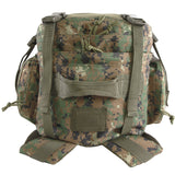 Large 3 Day Hiking Pack | Green Digi Camo | Green Camo | Compression Straps | Hydration Compatible