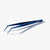 oui chef 14cm angled tip superfine jet black tweezers