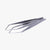 oui chef 14cm angled tip superfine stainless steel tweezers