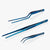 oui chef tweezers metallic blue high precision kit 6