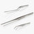 oui chef tweezers stainless steel high precision kit 6