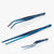oui chef tweezers metallic blue precision kit 7