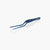 oui chef cooking kitchen tweezers metallic blue 14cm offset