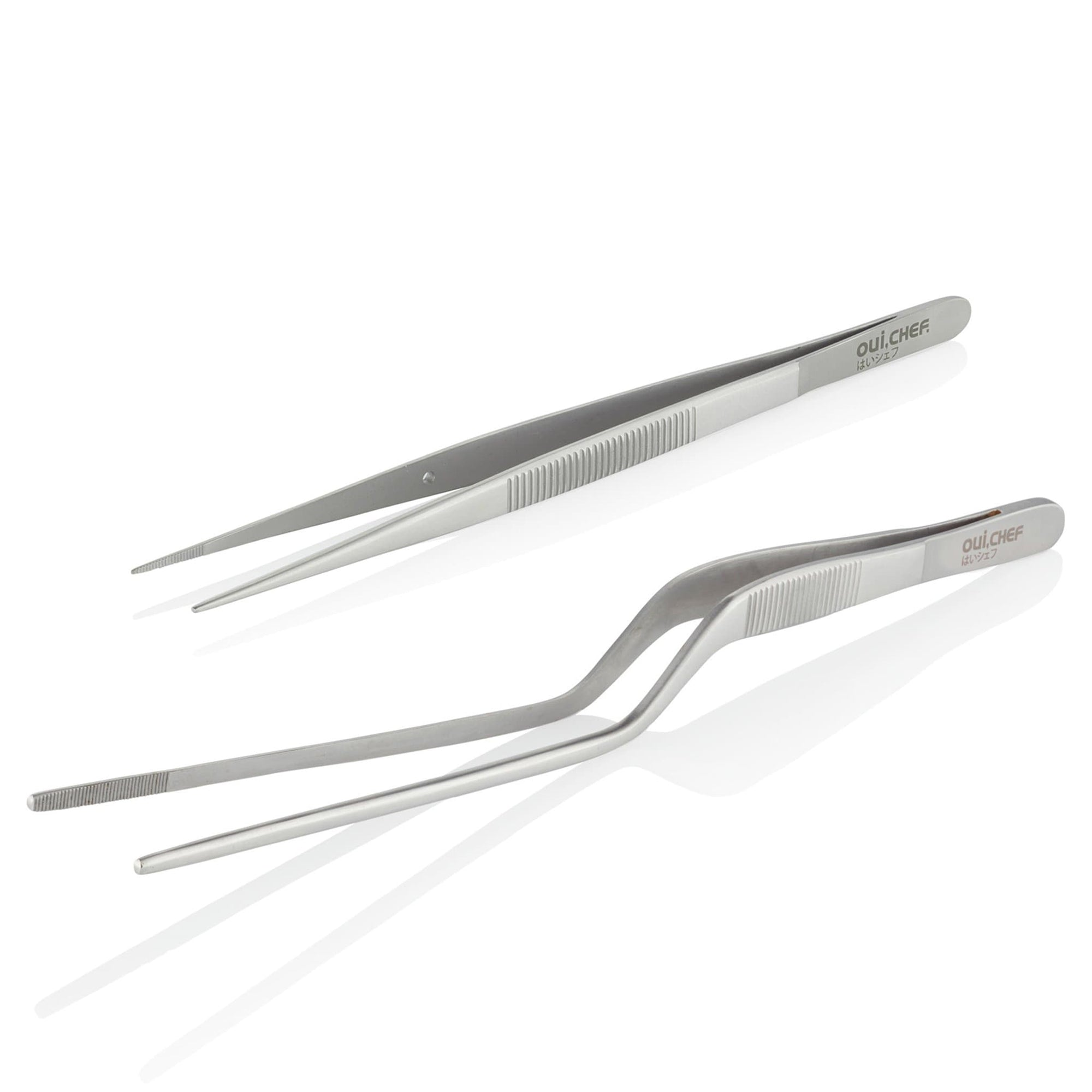 oui chef tweezers kit offset superfine small medium stainless steel
