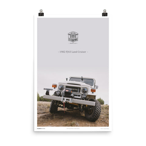 Poster: 1982 FJ43 Matte White (Outdoor)