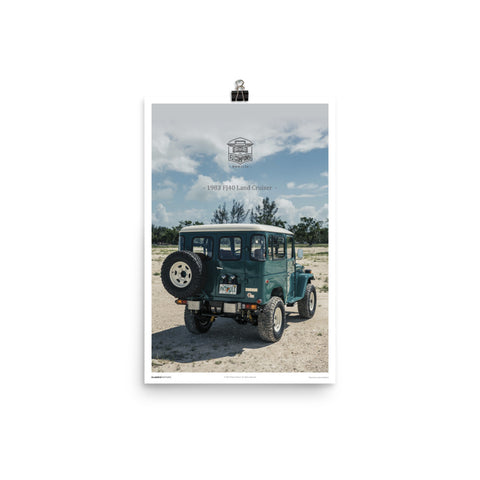 Poster: 1984 FJ40 Rustic Green (Outdoor)
