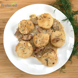 Scallops in Bacon Sauce