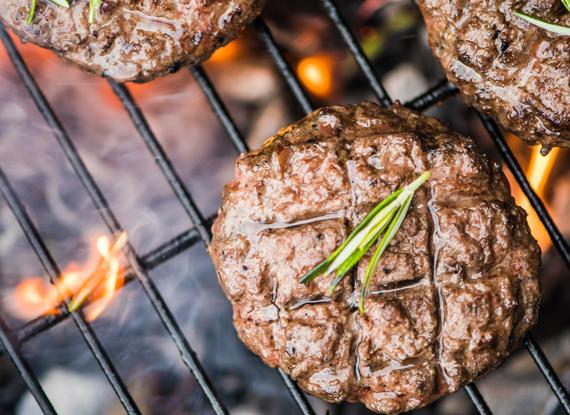 Garlic & Onion Grilled Lamb Burger