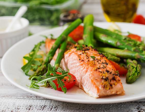 Pan Seared Herbed Salmon with Asparagus