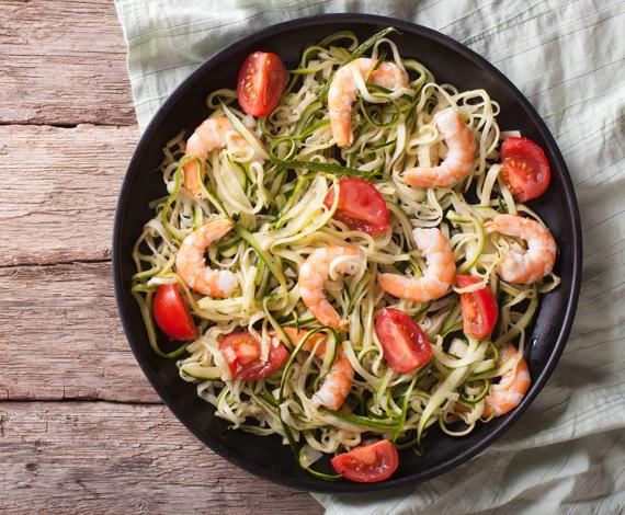Shrimp with Zoodles