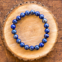 Load image into Gallery viewer, Handmade Lapis Lazuli Men's gemstone Bracelets