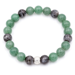 Labradorite and Aventurine | Men's Bracelet