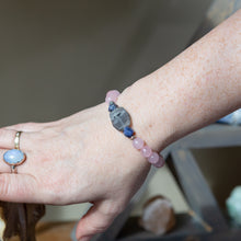 Load image into Gallery viewer, Rose Quartz with Labradorite Flat | Bracelet