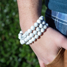 Load image into Gallery viewer, Howlite | Men's Bracelets