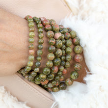 Load image into Gallery viewer, Unakite | Gemstone Bracelets