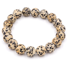 Load image into Gallery viewer, Handmade Dalmatian Jasper gemstone bracelets