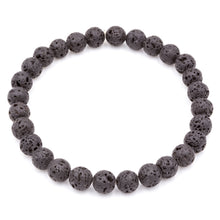 Load image into Gallery viewer, Handmade Lava Stone Gemstone Men's Bracelets