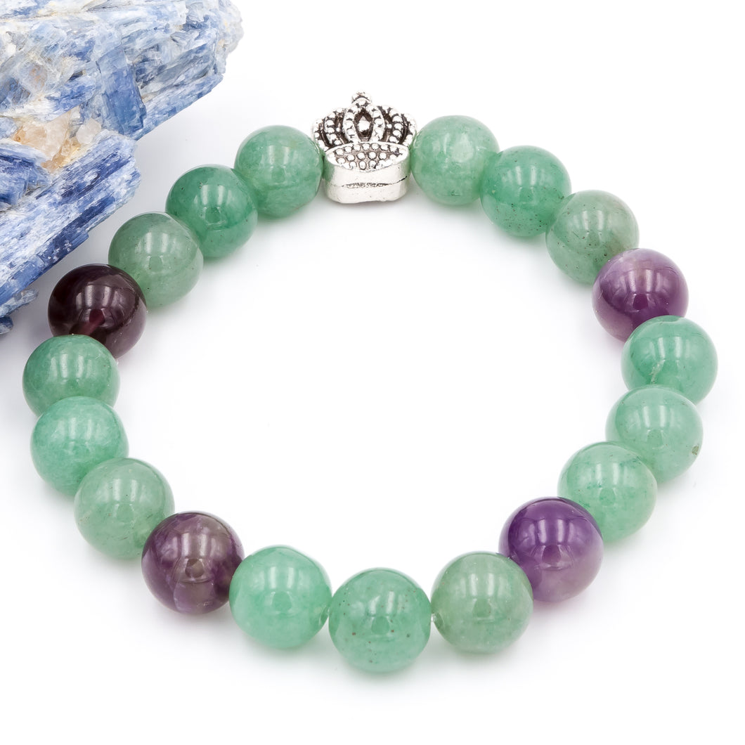 Queen City Amethyst and Aventurine | Women's Bracelet