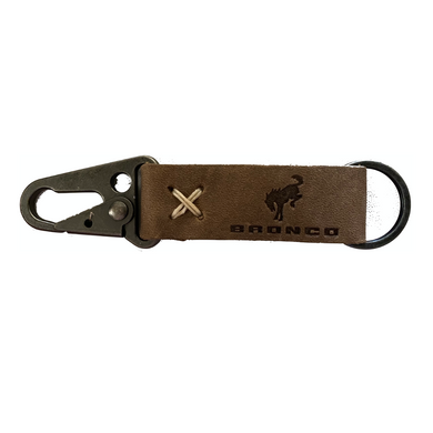 Bronco Leather Keychain