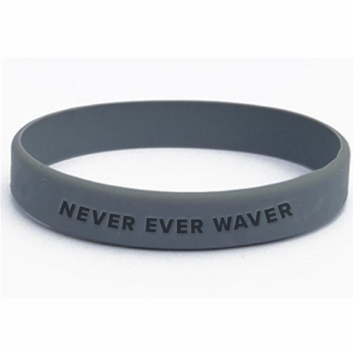 Never Ever Waver Silicone Bracelet