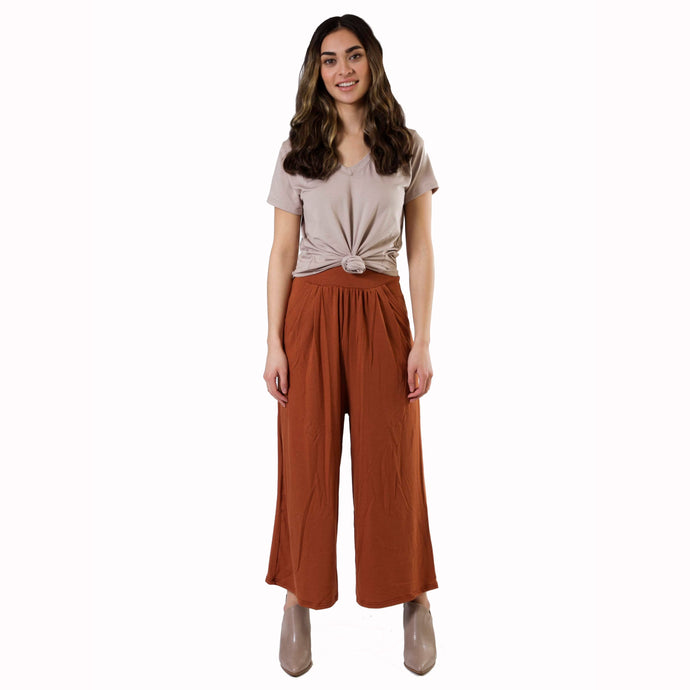 Crop Flowy Pants - Various Colors