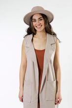Load image into Gallery viewer, Long Pocket Vest - Various Colors