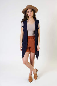 Long Pocket Vest - Various Colors
