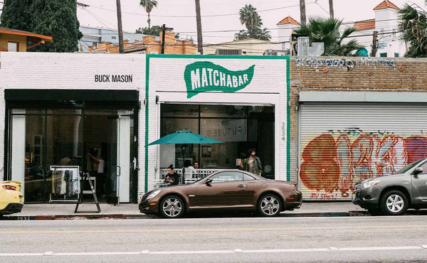 matchabar storefront in los angeles